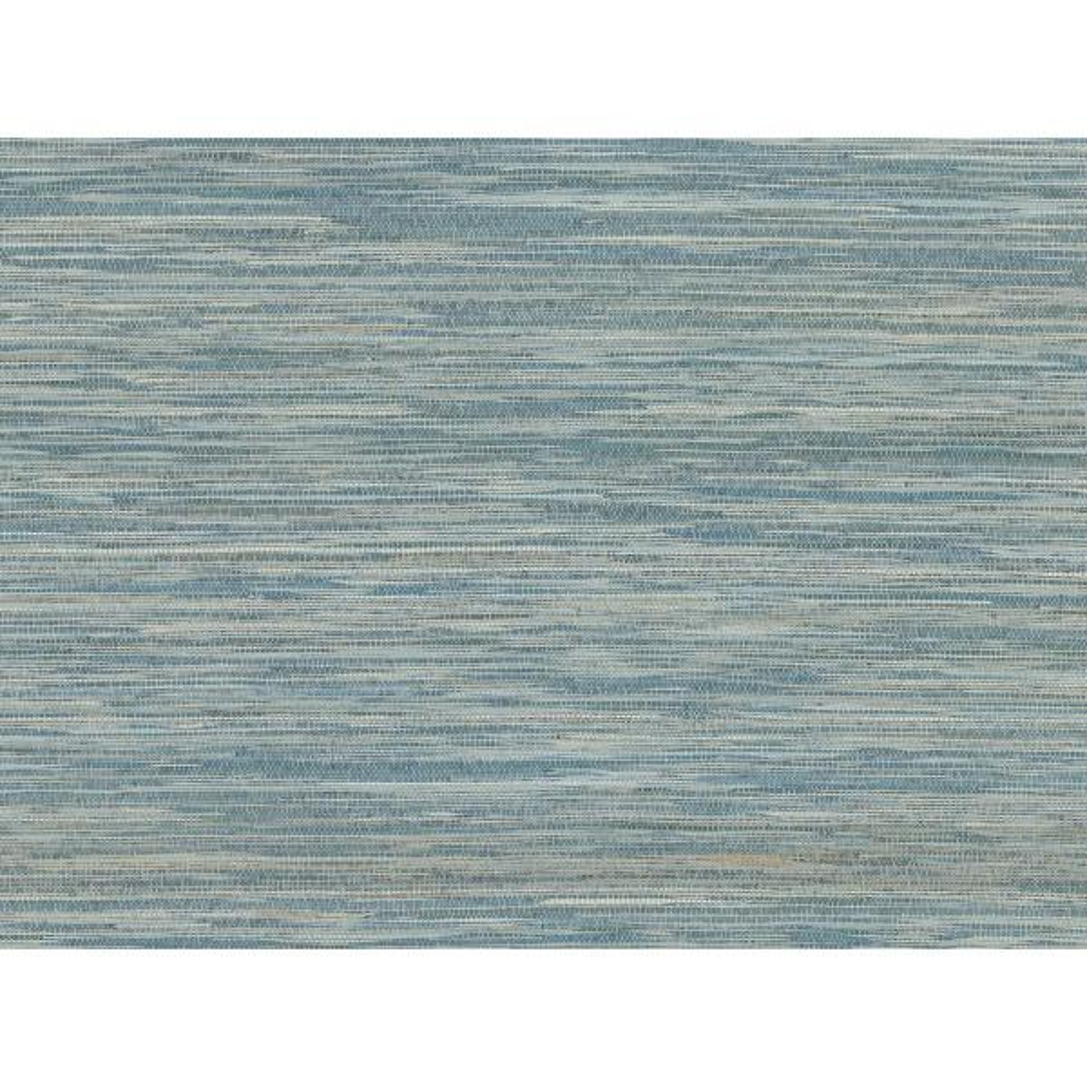 A-Street 72 sq. ft. Pattaya Blue Grasscloth Wallpaper 2829-82040