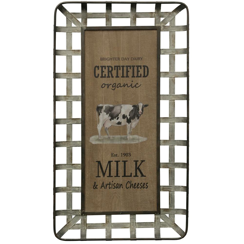 StyleCraft Certified Organic Milk and Artisan Cheese Multicolored Wooden Wall Art was $145.99 now $57.52 (61.0% off)