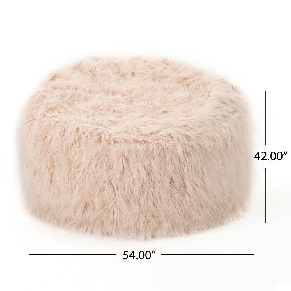 Stupendous Noble House 5 Ft Pastel Pink Long Faux Fur Bean Bag 19389 Machost Co Dining Chair Design Ideas Machostcouk