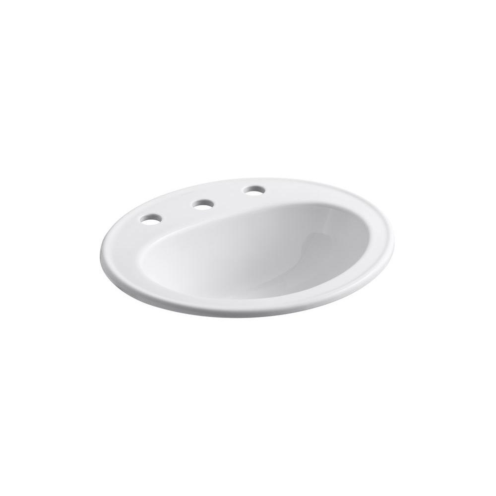 Kohler Pennington Drop In Vitreous China Bathroom Sink In
