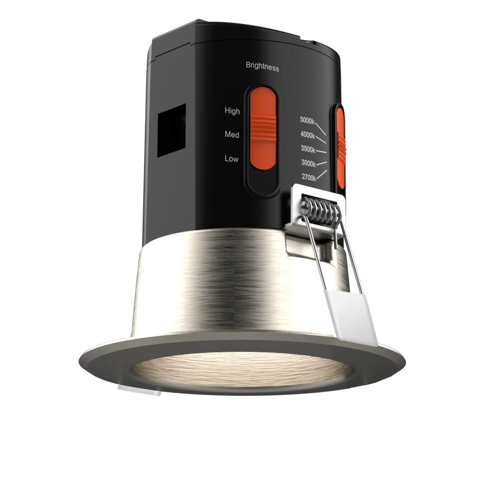 Premium Downlight 3 in. Brushed Nickel Integrated LED Recessed Kit