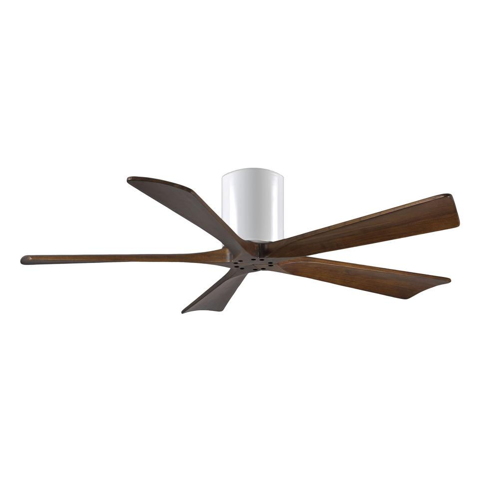 Irene 52 in. Indoor/Outdoor Gloss White Ceiling Fan with Remote Control