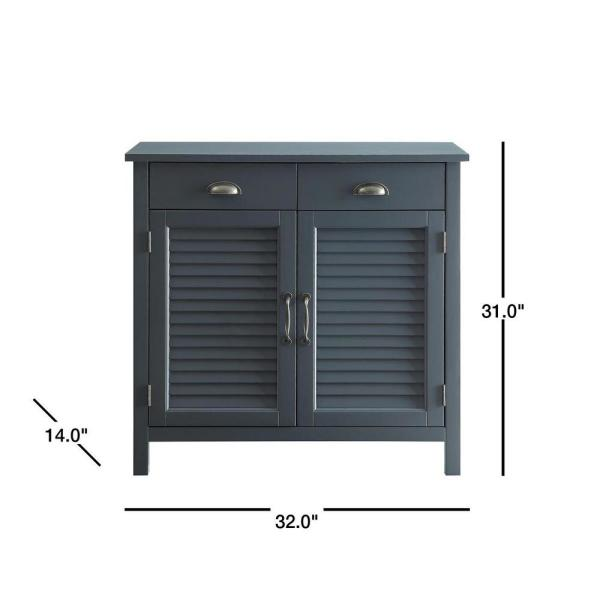 Grey Accent Cabinet 2 Shutter Doors