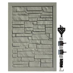 Simtek 4 Ft W X 6 Ft H Ecostone Gray Composite Privacy