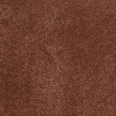 Carpet Sample - Coral Reef I - Color New Brick Texture 8 in. x 8 in.