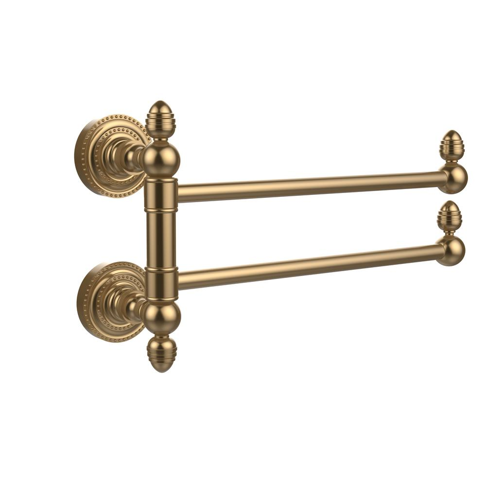 Dottingham Collection 2 Swing Arm Towel Rail in Brushed Bronze