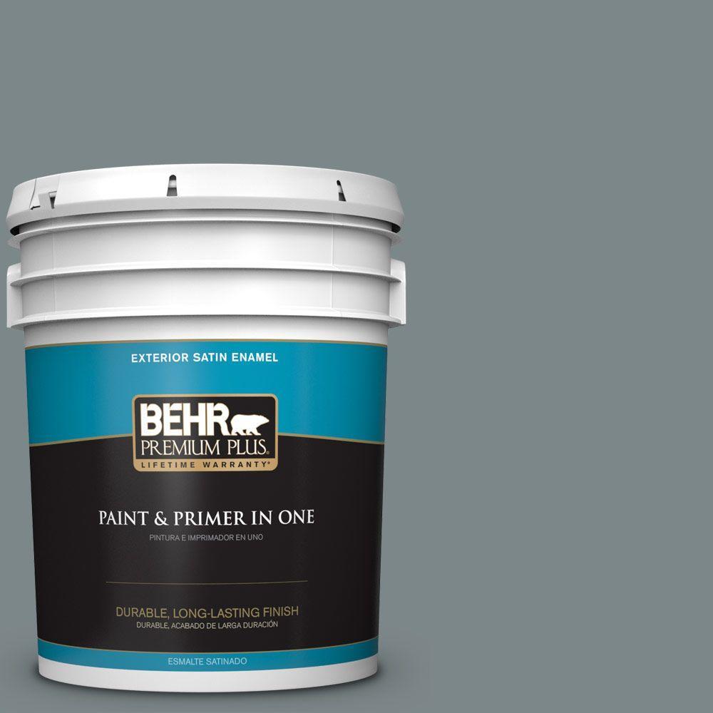 BEHR Premium Plus 5-gal. #730F-5 Nature Retreat Satin Enamel Exterior Paint