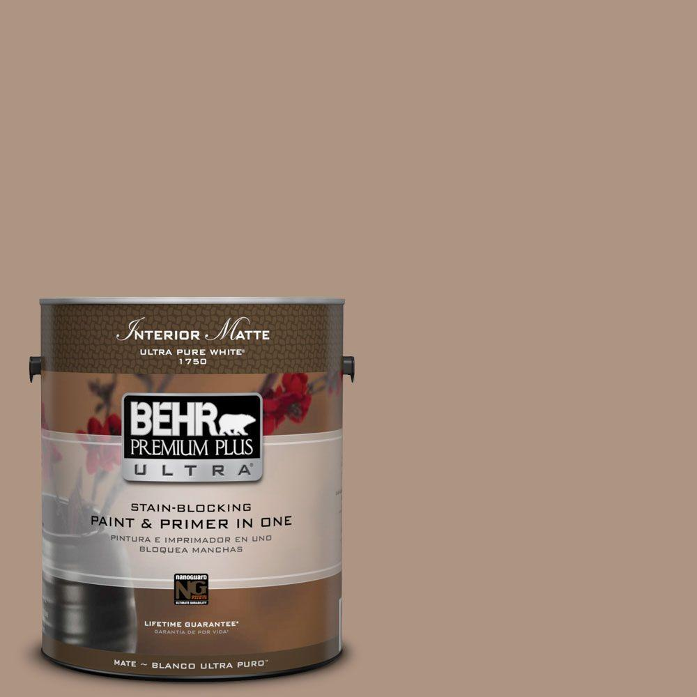 1 gal. #HDC-SP14-5 Mocha Tan Matte Interior Paint