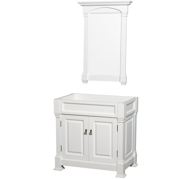Andover 36 in. W x 22.25 in. D Bath Vanity Cabinet Only with Mirror in White