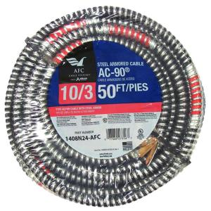 AFC Cable Systems 10/3 x 50 ft. BX/AC-90 Armored Electrical Cable by AFC Cable Systems