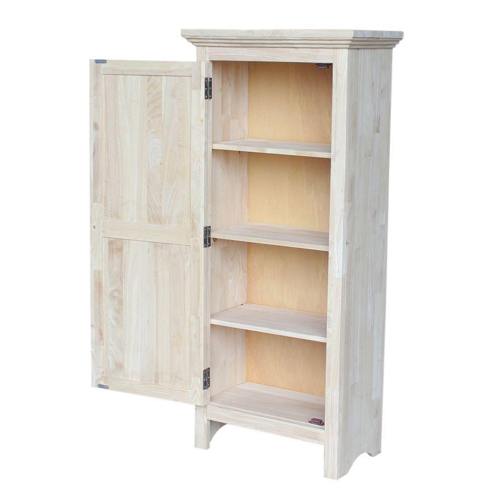 unfinished storage cabinet