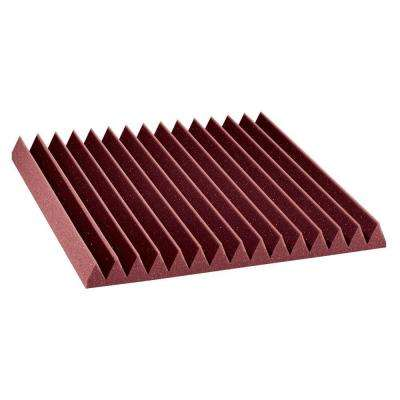 2 ft. W x 2 ft. L x 2 in. H Studio Foam Wedge Panels - Burgundy (Half-Pack: 12 Panels per Box)