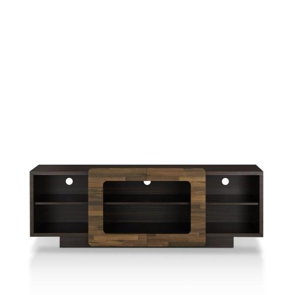 Cher 63 in. Wenge Wood TV Stand Fits TVs Up to 62 in. with Cable Management
