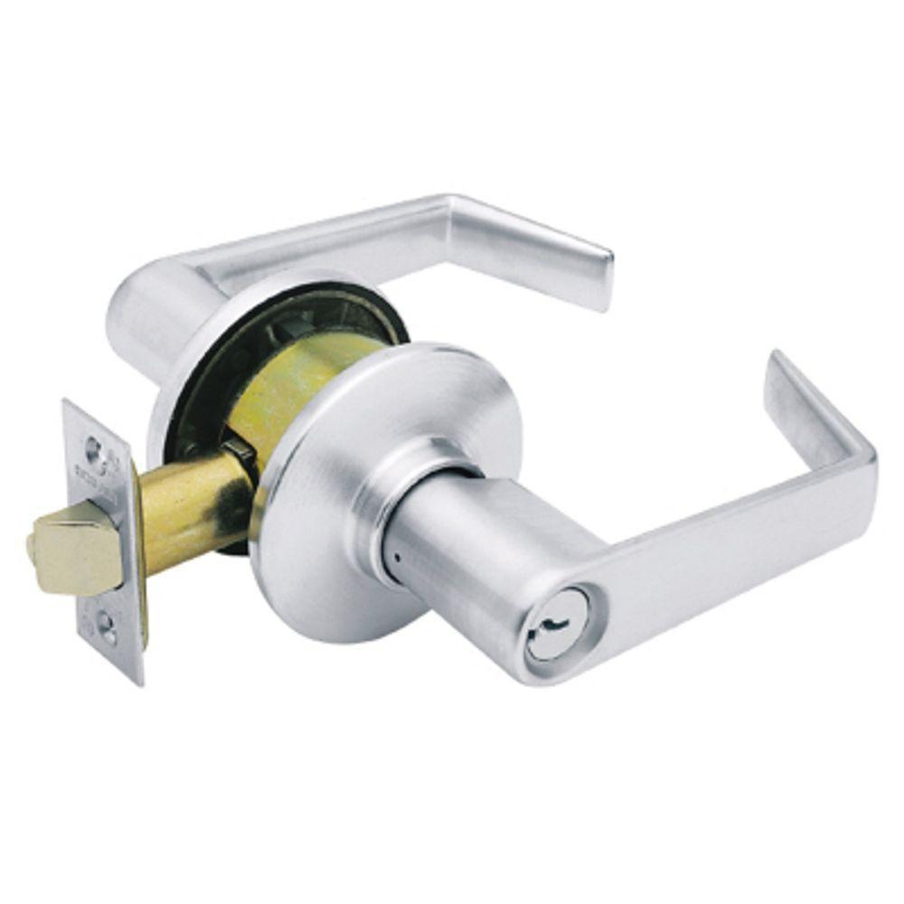Schlage F51AELA626 Satin Chrome Elan Single Cylinder Keyed Entry Door Lever Set