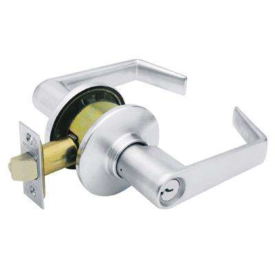 Apollo Satin Chrome Light Commercial Storeroom Door Lever
