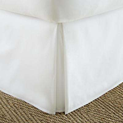Pleated Dust Ruffle White King Performance Bed Skirt