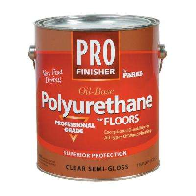 1 gal. Clear Semi-Gloss Interior Polyurethane for Floors (Case of 4)