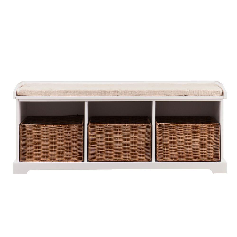 Gilbert White Storage Bench