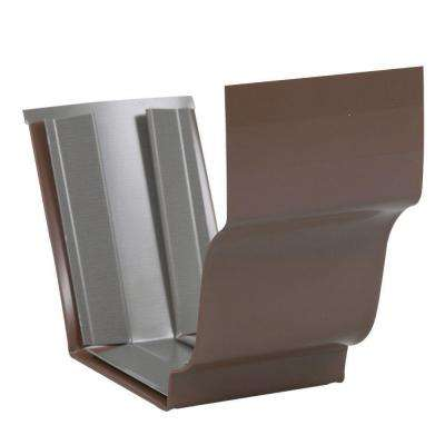 5 in. Bronze Aluminum Slip Joint Gutter Connector