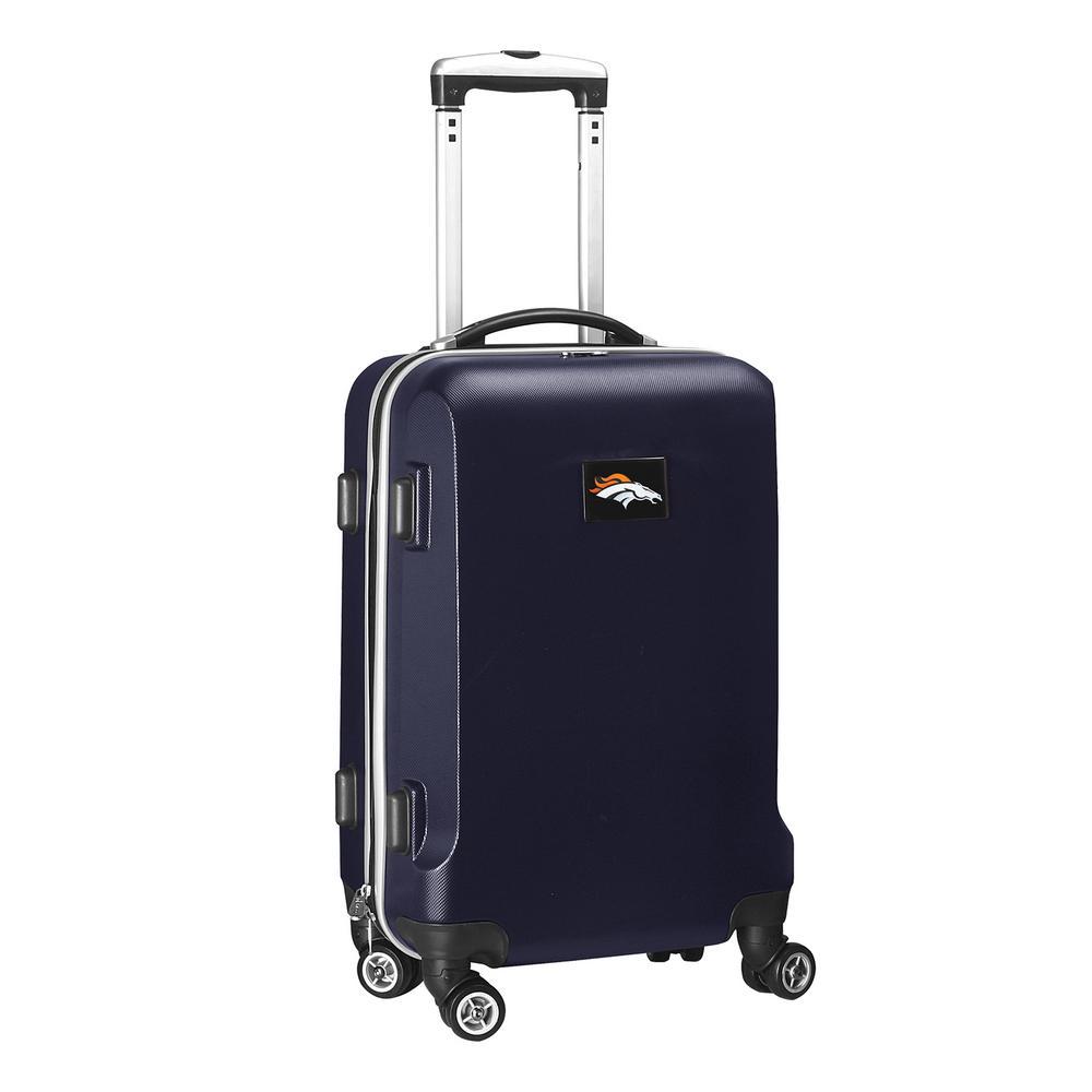 NFL Denver Broncos 21 in. Navy Carry-On Hardcase Spinner Suitcase