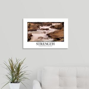Inspirational Motivational Poster In Challenging Waters The Leade By Kate Lillyson Canvas Wall Art