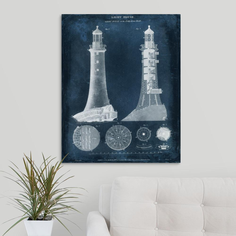 Greatbigcanvas lighthouse blueprint by vision studio canvas wall greatbigcanvas lighthouse blueprint by vision studio canvas wall art malvernweather Image collections