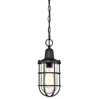 7-3/4 in. Oil Rubbed Bronze with Clear Glass Shade and 2-1/4 in. Fitter and 3-7/8 in. Width