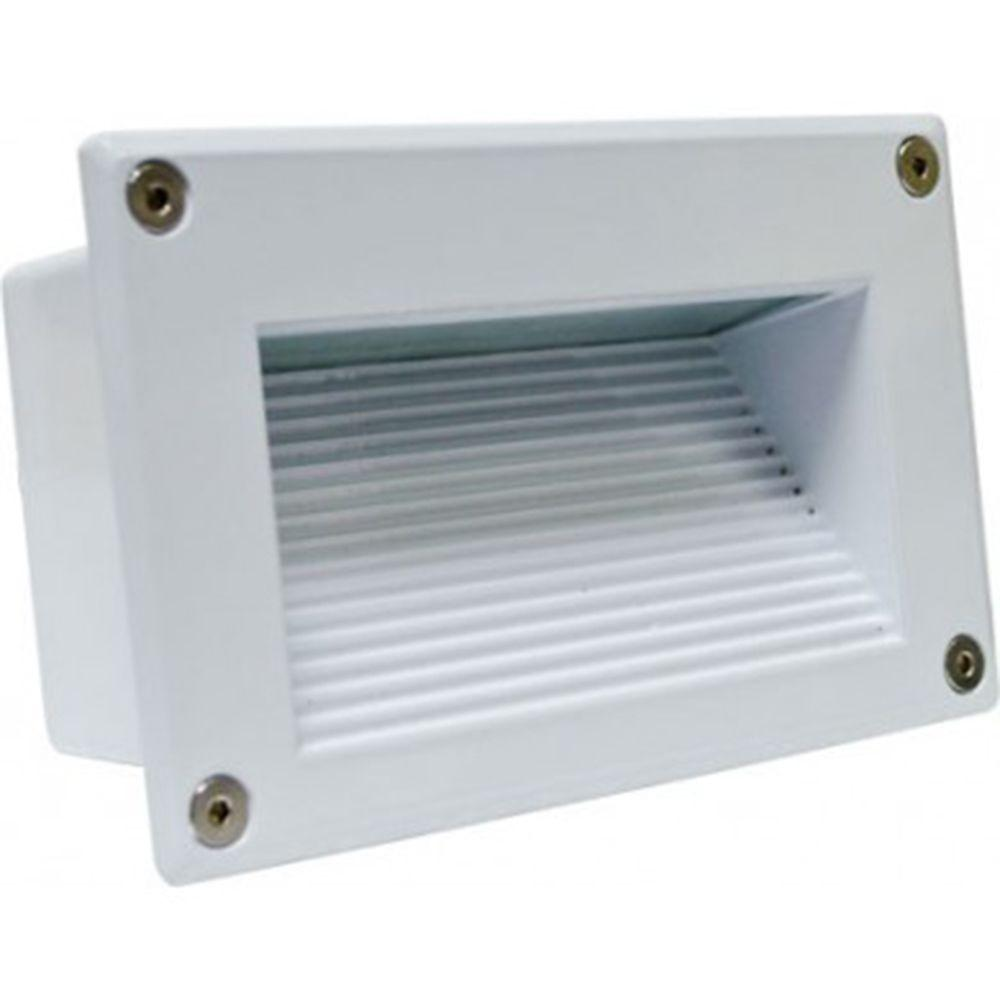 Ashler 18-Light White Outdoor LED Recessed Step Light