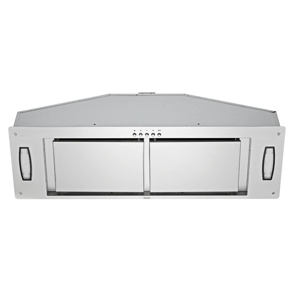 36 in. 750 CFM Insert Range Hood in Stainless Steel with Airflow Efficiency Panel