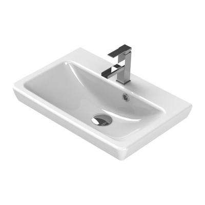 Porto Wall Mounted Bathroom Sink in White
