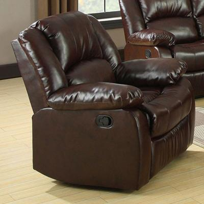 Winslow Transitional Style Rustic Brown Recliner