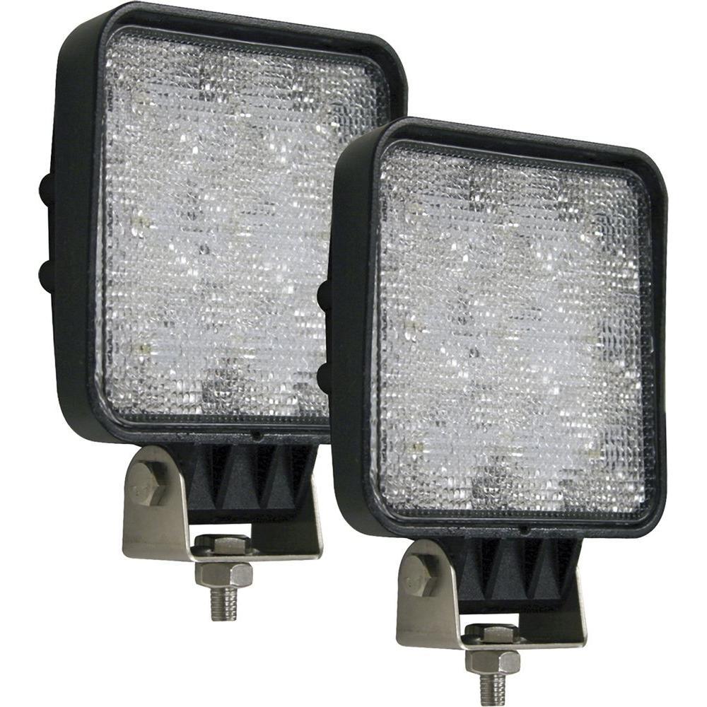 9-Clear LED Square Flood Light (2-Pack)