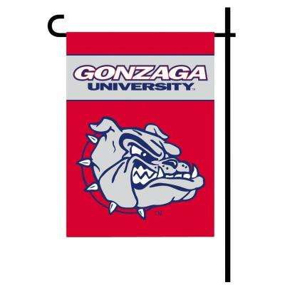 NCAA 13 in. x 18 in. Gonzaga 2-Sided Garden Flag Set with 4 ft. Metal Flag Stand
