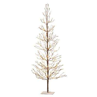 6 ft. Electric Snowy Brown Artificial Tree
