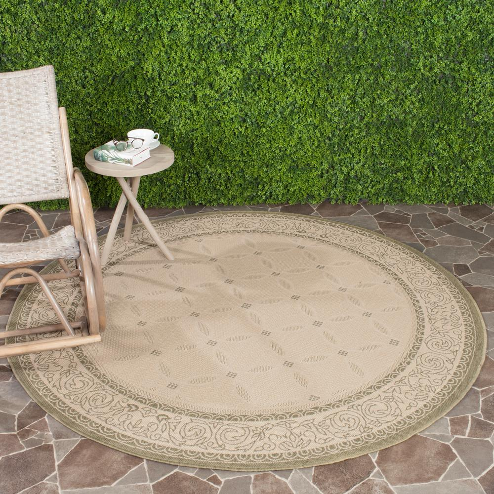 Courtyard Natural/Olive 5 ft. 3 in. x 5 ft. 3 in.