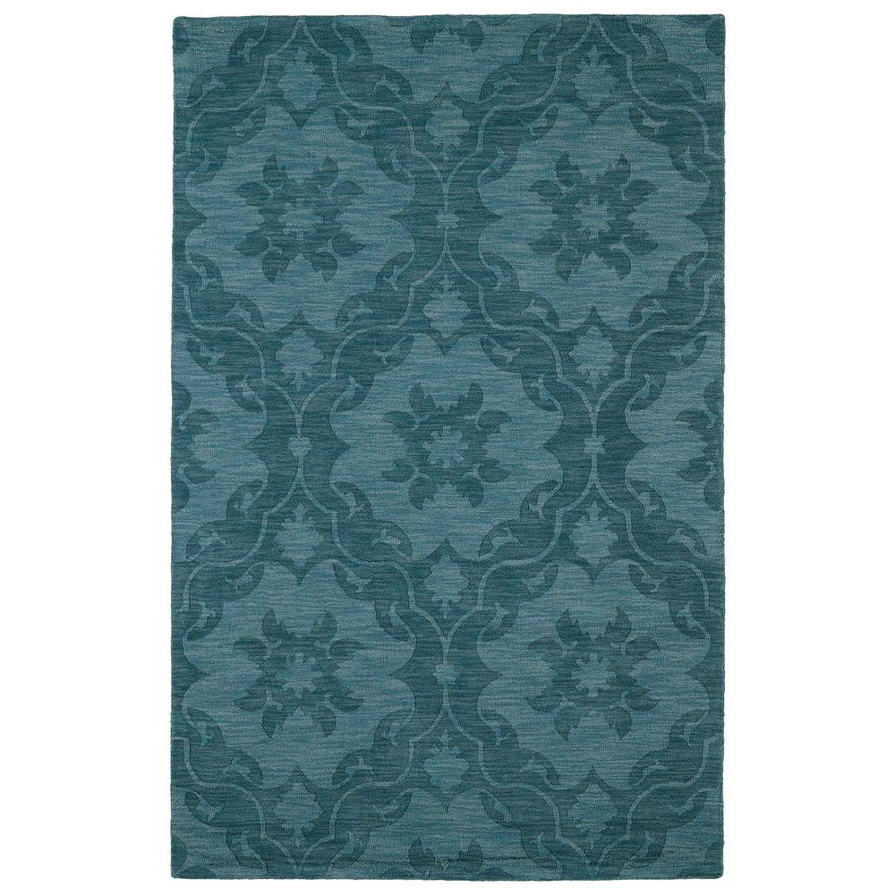 Imprints Classic Turquoise 8 ft. x 11 ft. Area Rug
