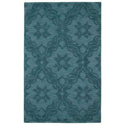 Imprints Classic Turquoise 10 ft. x 14 ft. Area Rug