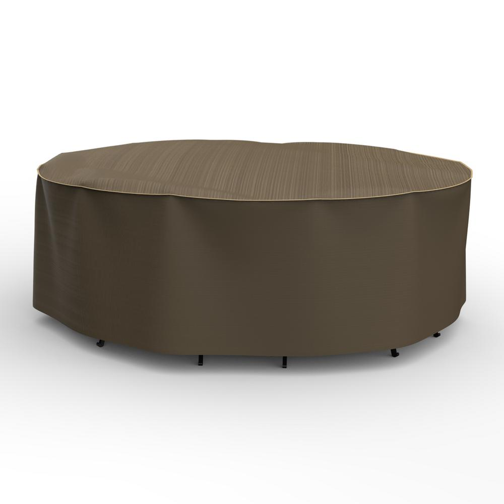 Rust-Oleum NeverWet Hillside Large Black and Tan Oval Table and Chairs Combo Cover