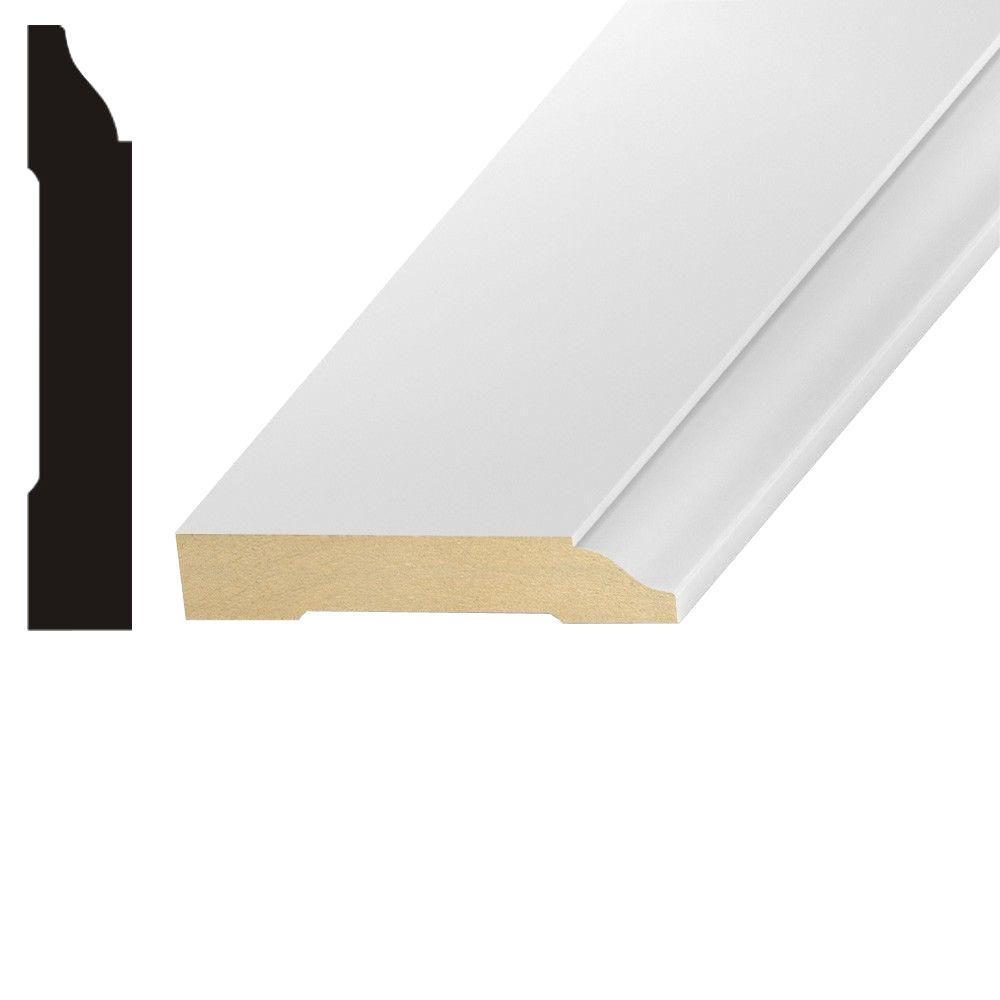 kelleher lwm623 9 16 in x 3 1 4 in mdf base moulding mdf221a the home depot. Black Bedroom Furniture Sets. Home Design Ideas