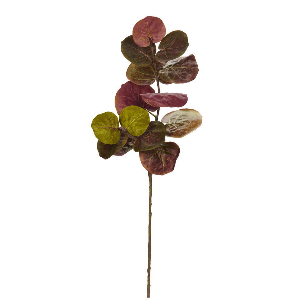 Indoor 49 in. Sea Grape Artificial Flower (Set of 3)