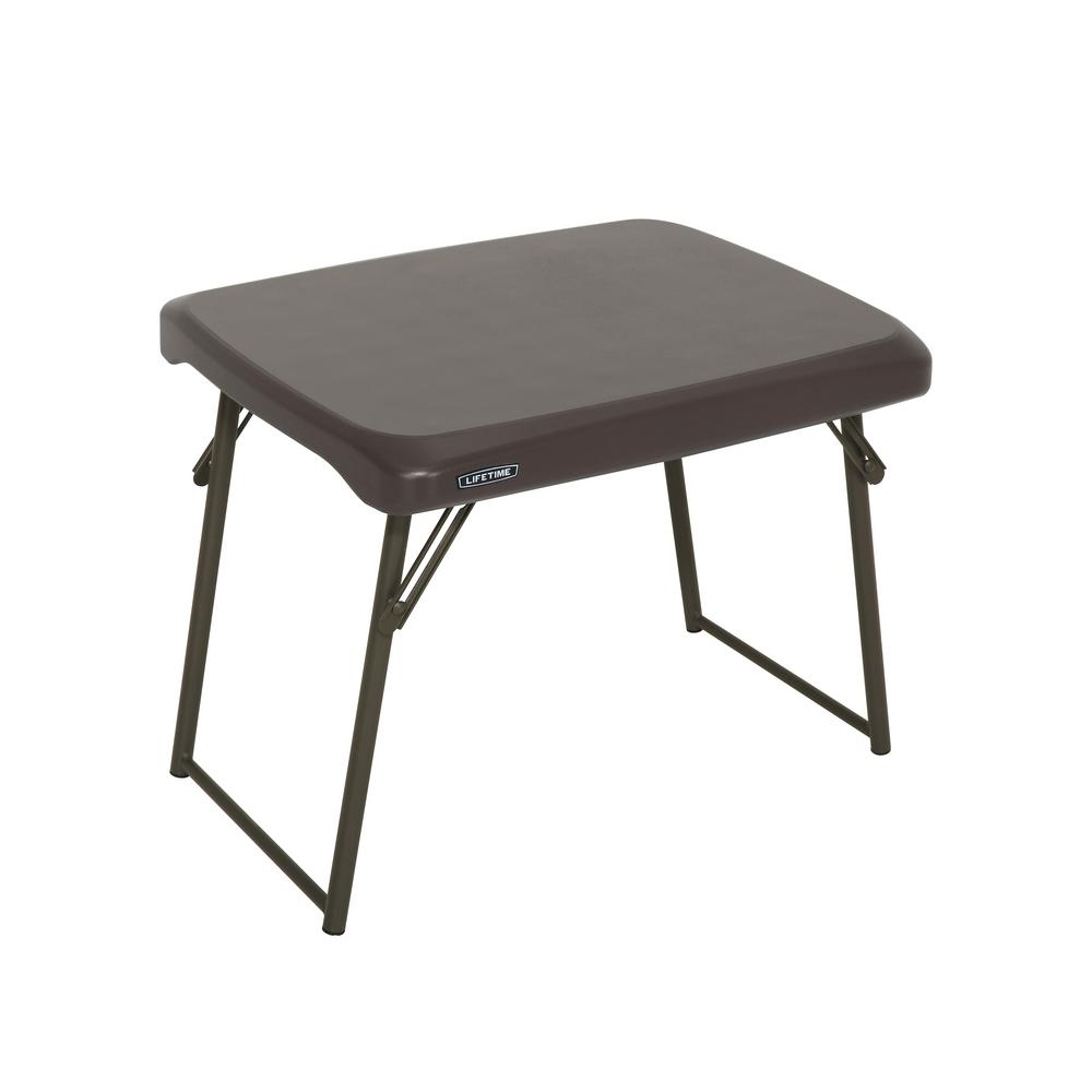 Lifetime Brown Compact Folding Table 80784 The Home Depot