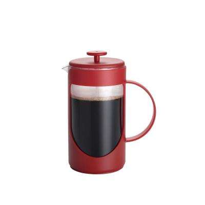 Ami-Matin 8-Cup French Press in Red