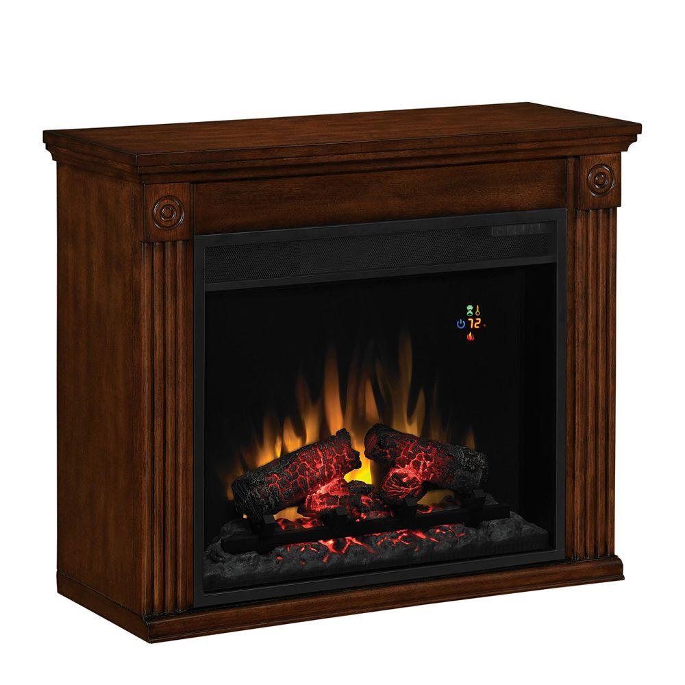 Chimney Free 31 in. Electric Fireplace in Rose Cherry-DISCONTINUED