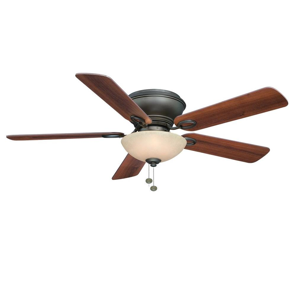 Led Indoor Oil Rubbed Bronze Ceiling Fan With Light Kit Ag971 Orb The Home Depot