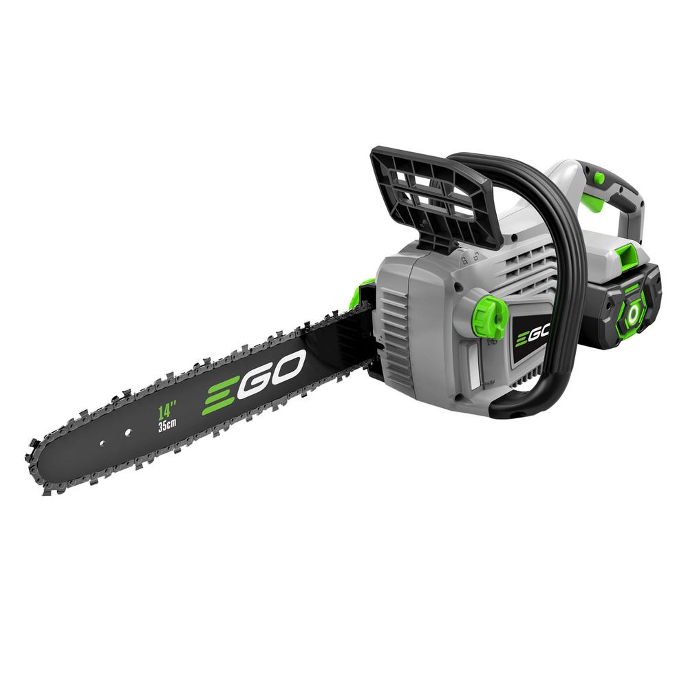 Ego 16 in 56 volt lithium ion cordless chainsaw with 50ah 56 volt lithium ion cordless chainsaw with 25ah battery and greentooth