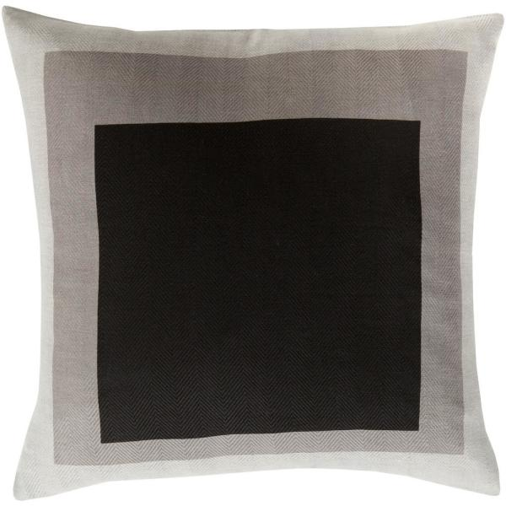 Kemerovo Black Geometric Polyester 18 in. x 18 in. Throw Pillow