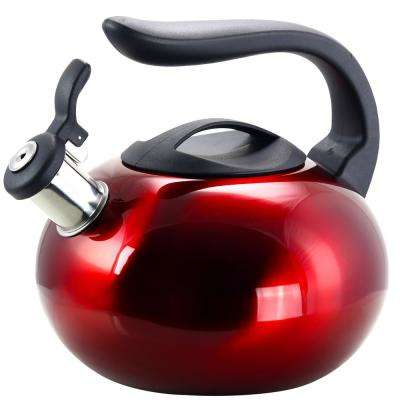 Langham 8-Cup Red Stainless Steel Tea Kettle