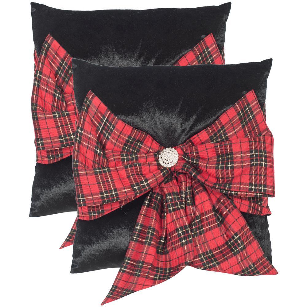 Tartan Bow Seasonal Chic Pillow (2-Pack)