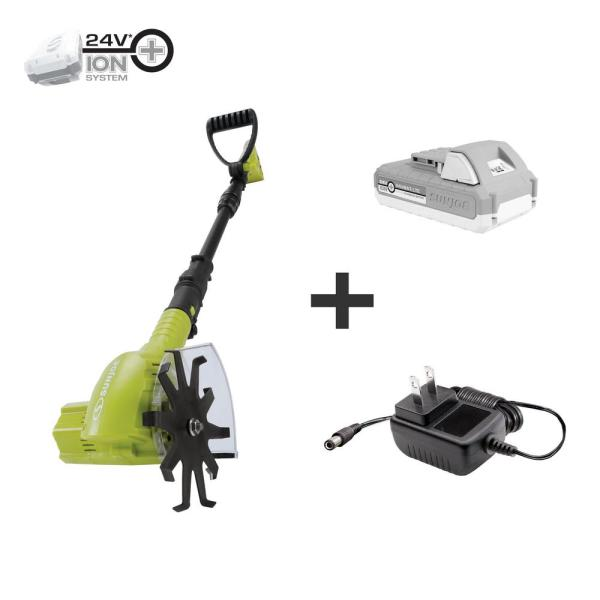 Sun Joe 24-Volt Cordless Cultivator/Weeder Kit with 2.0 Ah Battery + Charger