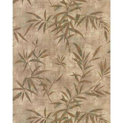 Destinations by the Shore Neutral Bamboo Wallpaper Sample